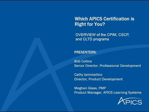 Which APICS Certification is Right for You - YouTube