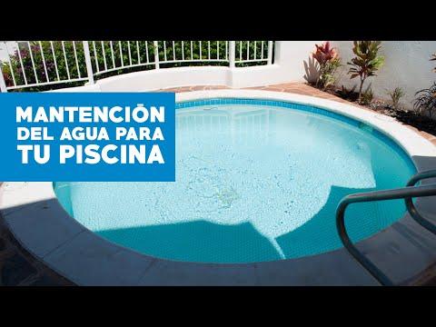 ¿Cómo mantener el agua de la piscina?