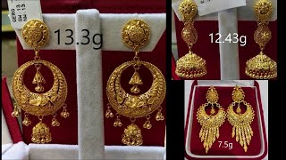 Latest Gold Earrings With Weight