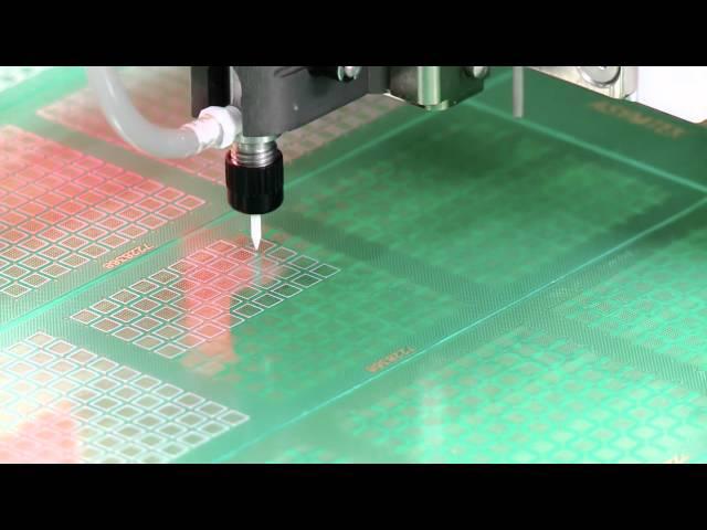 Nordson ASYMTEK: Heli-Flow series valve dispensing solder paste for MEMS application