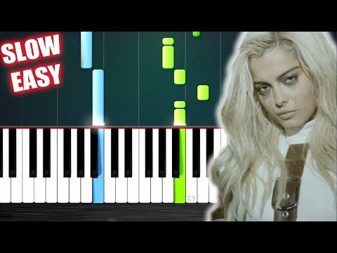Bebe Rexha - I'm A Mess - SLOW EASY Piano Tutorial by PlutaX