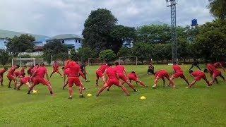 Latihan Perdana Persija Pasca Menjuarai Piala Presiden