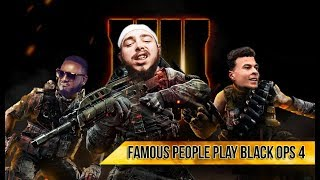 FAMOUS PEOPLE PLAYING COD BLACK OPS 4!! ►Rappers, Actors, Athletes