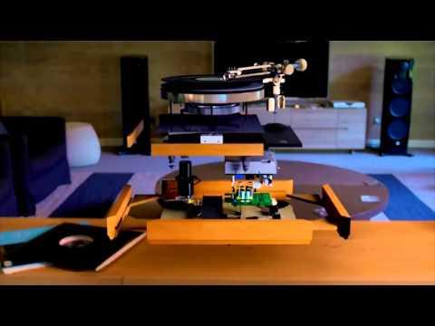 Внутреннее устройство проигрывателя виниловых пластинок