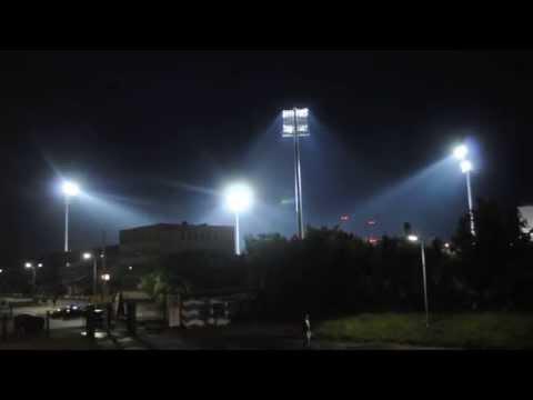 Nocny test jupiterów na stadionie Stomilu Olsztyn