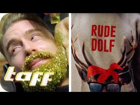 Glitzer im Bart und Ugly Christmas Sweater – Die Weihnachtstrends 2017 | taff | ProSieben