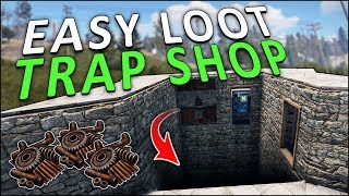LURING PLAYERS into a FAKE FLOOR SCAM SHOP! - Rust Trap Base
