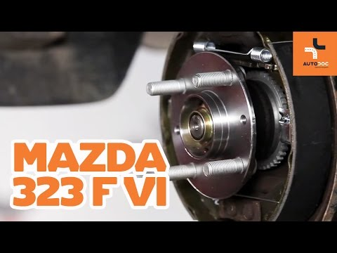 How to replace a rear wheel bearing on MAZDA 323 TUTORIAL | AUTODOC