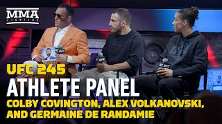 UFC 245 Athlete Panel: Colby Covington, Alexander Volkanovski, Germaine de Randamie - MMA Fighting