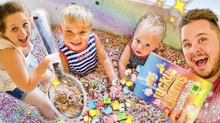 MAGICAL CEREAL POOL! 🌈 Super Rare Marshmallows Only Cereal!! 😮