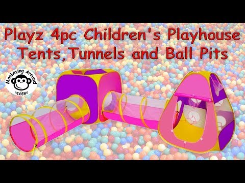 Playz 4pc Children's Playhouse with Popup Tents and Tunnels review