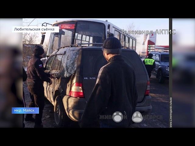 Внедорожник въехал в автобус с пассажирами