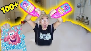100+ CUPS OF BUBBLE BATH! MOST SATISFYING BATH EVER! | NICOLE SKYES