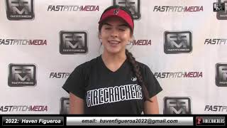 2022 Haven Figueroa 4.0 GPA - Speedy Outfielder Softball Skills Video - Firecrackers Thomas
