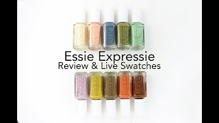 The NEW Essie Expressie Line: My Review And Live Swatches