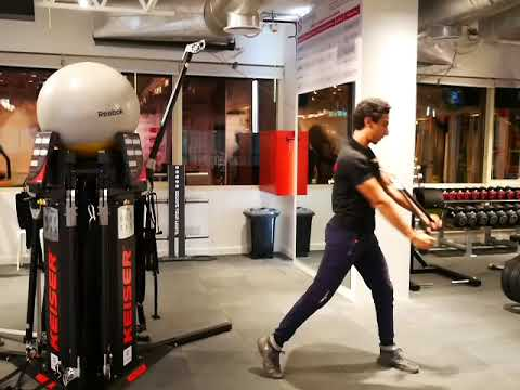 The Science Gym Exercise - keiser Rope Wood Chop