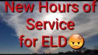 New hours of service for ELD mandate - Video Youtube