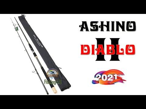 Cần Câu Ashino DIABLO II - New 2021 - Phiên bản khoen Fuji Sic chân K cao - Hot new