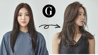 [그라피TV] {ENG SUB} 긴머리 가볍게 커트하기 Asian Hairstyle Korean Womans Long Layered Haircut