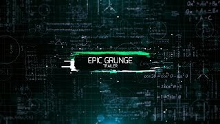 Epic Grunge Trailer After Effects Template