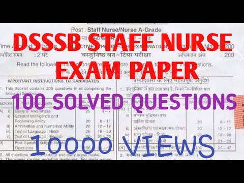Download Staff Nurse Exam Important Question 1 Video 3GP Mp4 FLV HD