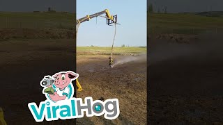 Water Hose Rodeo || ViralHog