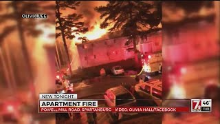 Spartanburg apartment fire displaces families on Christmas Eve