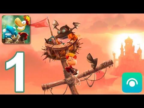 Rayman Adventures - Gameplay Walkthrough Part 1 - Adventures 1-2 (iOS, Android)