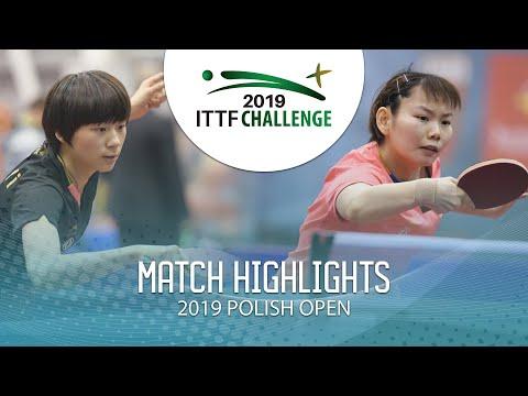 Chen Yi vs He Zhuojia | 2019 ITTF Polish Open Highlights (Final)