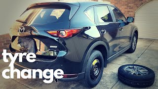 How To Change A Car Tyre - Mazda CX-5