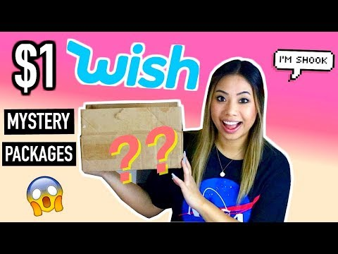 $1 WISH MYSTERY BOXES!! SCAM OR NOT?!