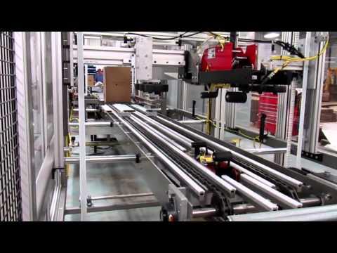Selladora de cajas RS3000LD con doblado de solapas para cajas pesadas