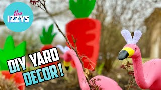 DIY EASTER YARD DECOR ON A BUDGET!
