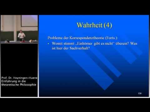 Grundbegriffe der Erkenntnistheorie I: Wissen und Wahrheit