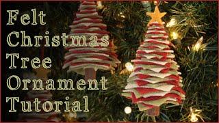 DIY Felt Christmas Tree Ornaments!!