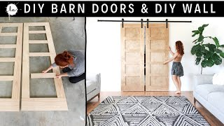 Building Our DIY Barn Doors On A BUDGET + OUR DIY WALL | LilyArdor