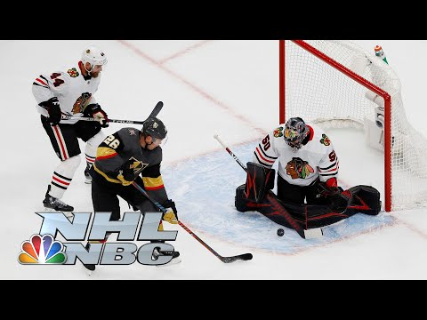 NHL Stanley Cup First Round: Blackhawks vs. Golden Knights | Game 1 EXTENDED HIGHLIGHTS | NBC Sports