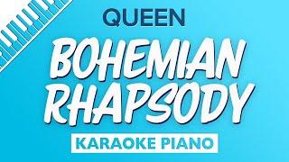 Bohemian Rhapsody (Lower Key   Piano Karaoke) QUEEN
