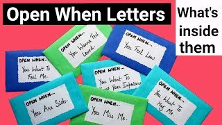 "What is inside these ""Open When Letters"" 