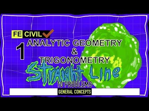 10 practice problems FE exam: Analytic Geometry and Trigonometry ...