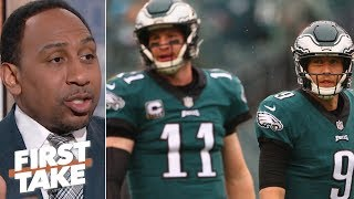 Nick Foles or Carson Wentz: Who deserves to start for the Eagles in 2019? | First Take
