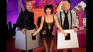 "Milo Moiré with Jean Paul Gaultier & Antoine de Caunes on ""Eurotrash"""