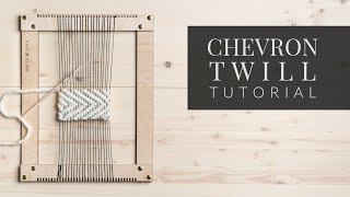 How To Weave A Simple Twill Pattern [Chevron Twill]