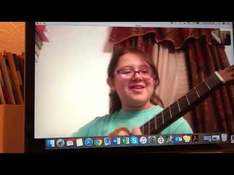 Long time online guitar student, Clarissa 5th grade