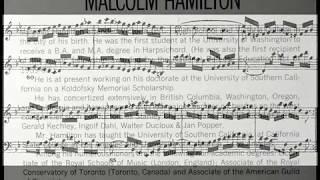 JS Bach / Malcolm Hamilton, 1964: WTC, Book II, Prelude and Fugue No. 21 in B flat major, BWV 890