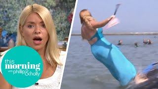 Josie Gibson Falls Into The Sea Live On Air! | This Morning