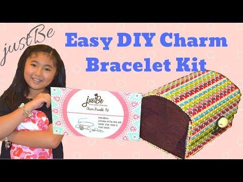 JustBe Charm Bracelet Kit Review   Easy DIY Charm Bracelet for Kids!!!