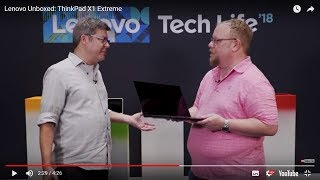 YouTube Video VXrOJXdiGeo for Product Lenovo ThinkPad X1 Extreme G2 Laptop by Company Lenovo in Industry Computers
