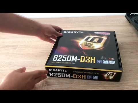 GIGABYTE GA-B250M-D3H - Unboxing