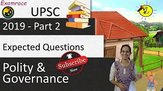 ❗ Expected Questions on Governance and Polity 2019 Set 2 (UPSC CSE/SSC/IBPS)